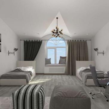 Ремонт квартиры в Одессе Дизайн-проект Дома с мансардой