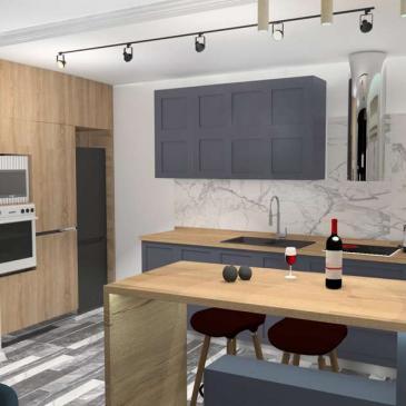 Дизайн проект типовой квартиры 26-я Жемчужина, Одесса