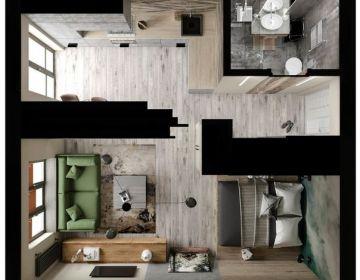 Правильный дизайн интерьера однокомнатной квартиры